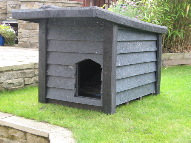 Recycled plastic sheeting is great as animal housing as their waste matter doesn't rot it at all