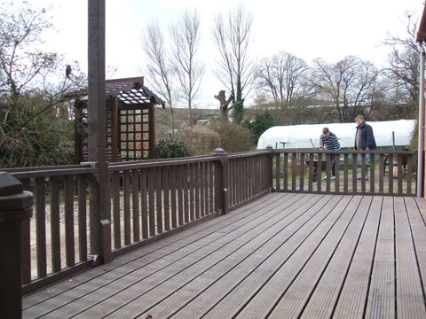 Recycled plastic decking walkways and boardwalks for Recycled decking material