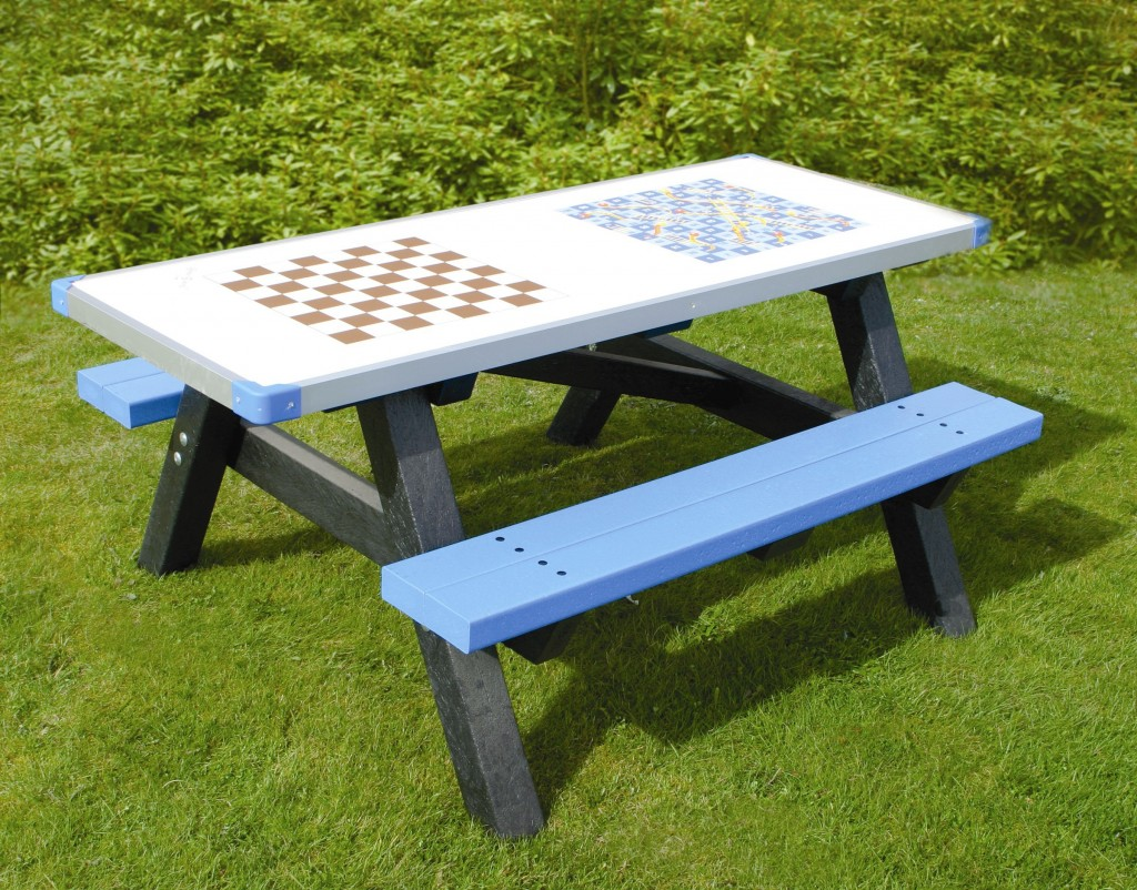 Adult Activity Table Black & Blue