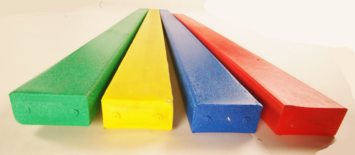 Recycled plastic profiles